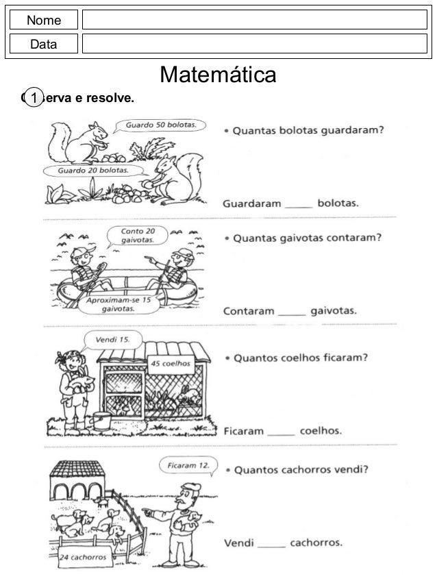 Nome Data Matemática Observa e resolve.1