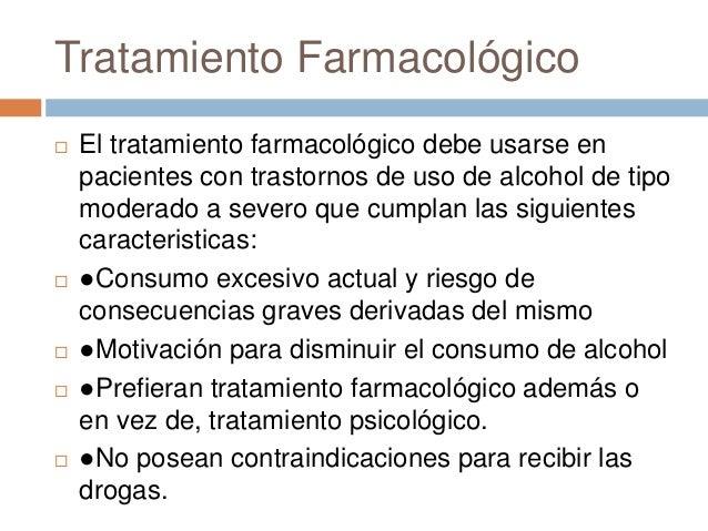 La tintura de alcohol al alcoholismo