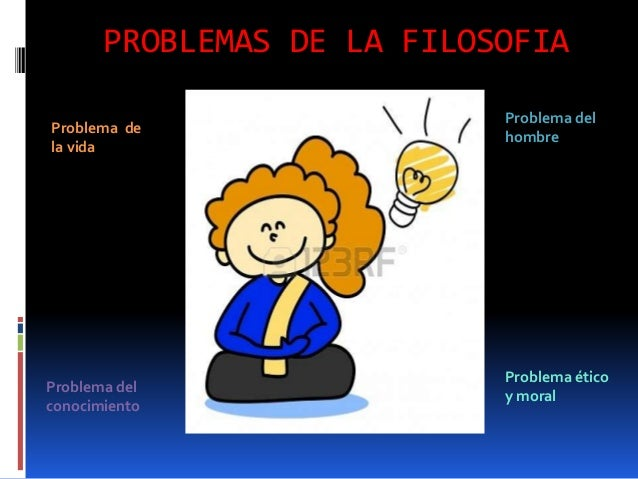 PROBLEMAS DE LA FILOSOFIA Problema ético y moral Problema de la vida Problema del conocimiento Problema del hombre