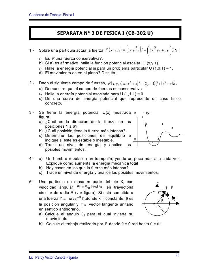 Cuaderno de Trabajo: Física I                      SEPARATA N° 3 DE FISICA I (CB-302 U)                                   ...