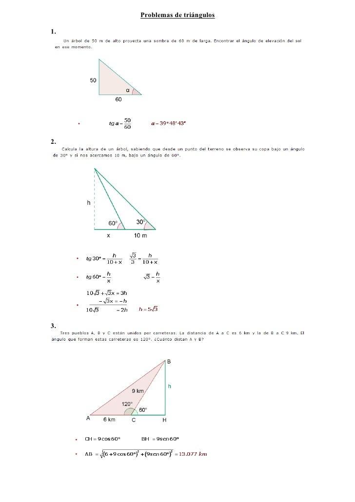 Problemas de triángulos  1.     2.     3.