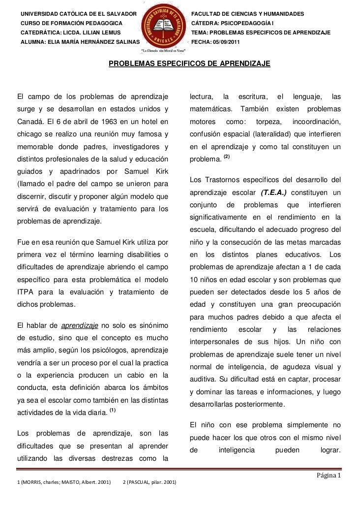 UNIVERSIDAD CATÓLICA DE EL SALVADOR                                     FACULTAD DE CIENCIAS Y HUMANIDADES CURSO DE FORMAC...