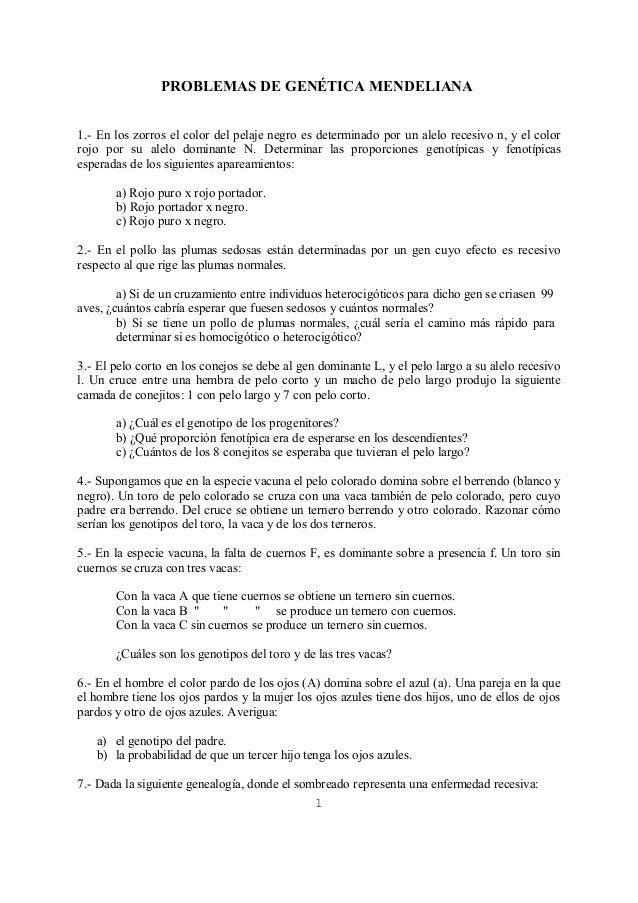 PROBLEMAS DE GENÉTICA MENDELIANA 1.- En los zorros el color del pelaje negro es determinado por un alelo recesivo n, y el ...
