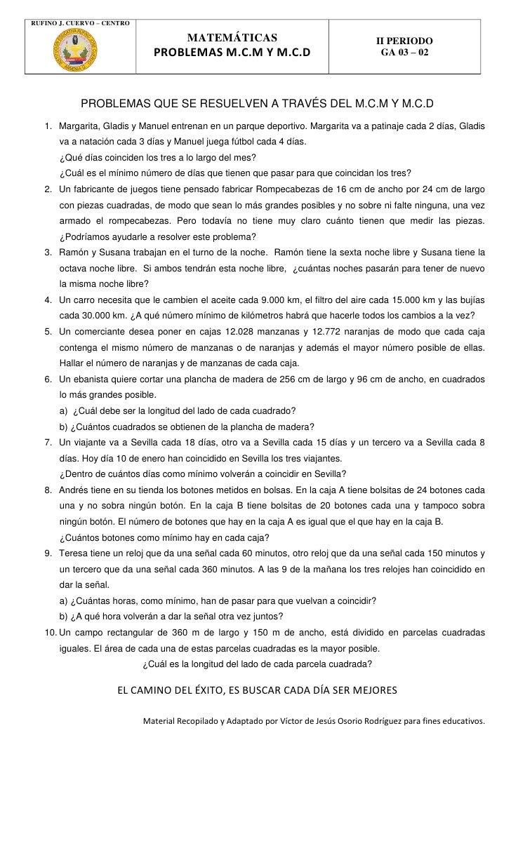 RUFINO J. CUERVO – CENTRO                                       MATEMÁTICAS                                       II PERIO...