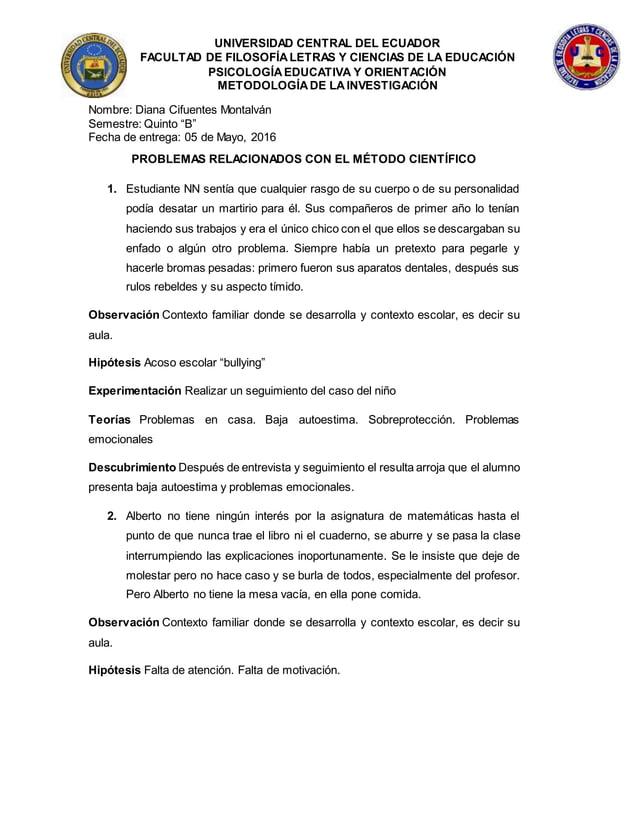 UNIVERSIDAD CENTRAL DEL ECUADOR FACULTAD DE FILOSOFÍALETRAS Y CIENCIAS DE LA EDUCACIÓN PSICOLOGÍAEDUCATIVA Y ORIENTACIÓN M...