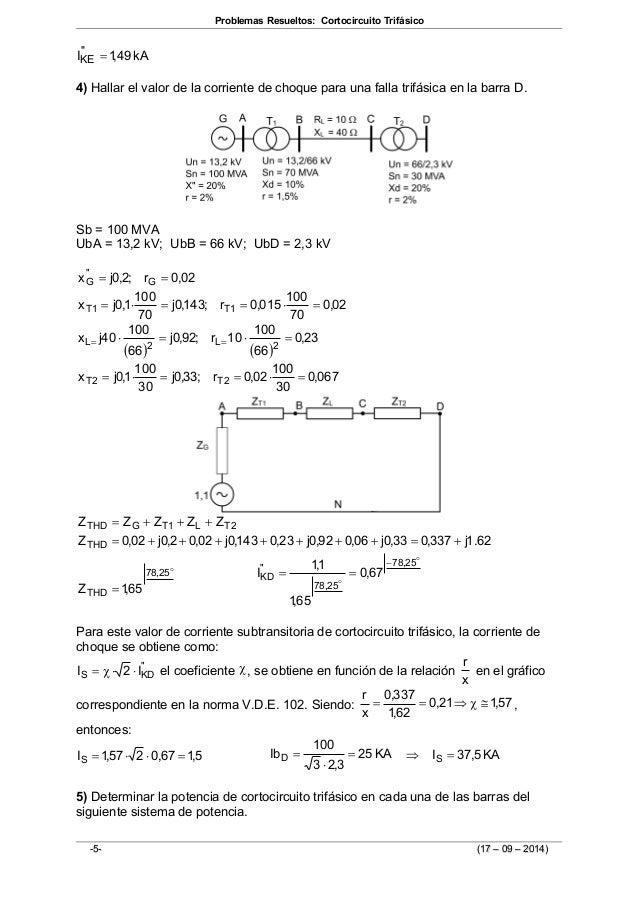 Sistemas eléctricos de potencia problemas y ejercicios resueltos pdf