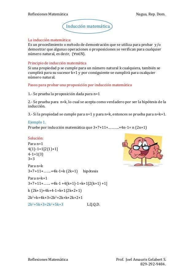 Problemas resueltos sobre inducción matemática