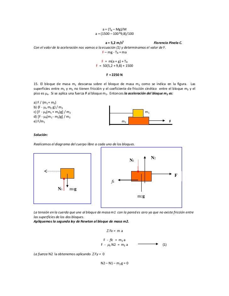 Problemas Leyes de Newton Nivel 0B
