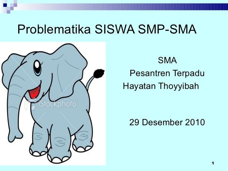 Problematika SISWA SMP-SMA                       SMA                Pesantren Terpadu               Hayatan Thoyyibah     ...