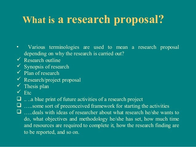 thesis proposal framework