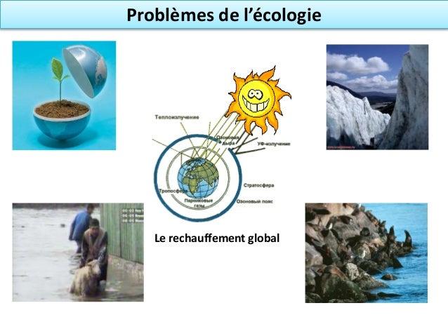 Problèmes de l'écologie Le rechauffement global