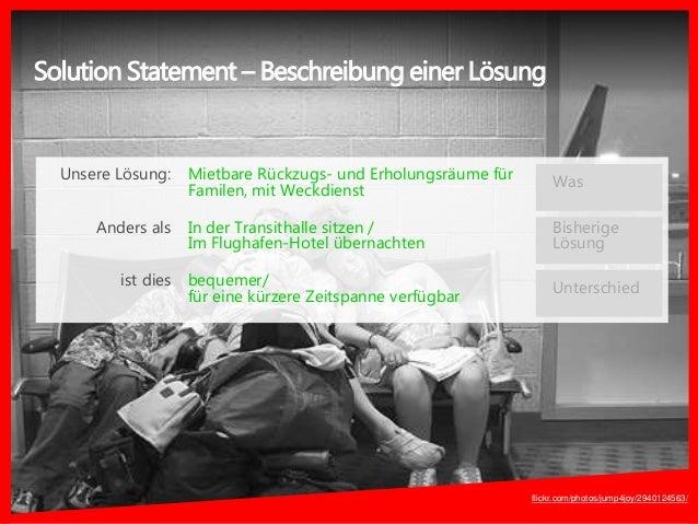 Solution Statement – Beschreibung einer Lösung Mietbare Rückzugs- und Erholungsräume für Familen, mit Weckdienst In der Tr...