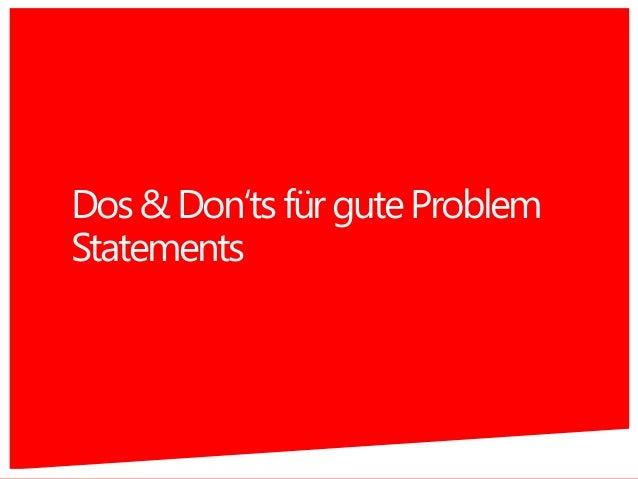 Dos&Don'tsfürguteProblem Statements 45