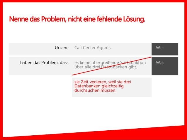 Nenne das Problem, nicht eine fehlende Lösung. Was Call Center Agents es keine übergreifende Suchfunktion über alle drei D...