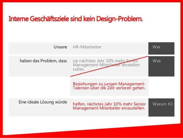 Interne Geschäftsziele sind kein Design-Problem. Was HR-Mitarbeiter sie nächstes Jahr 10% mehr Senior Management Mitarbeit...