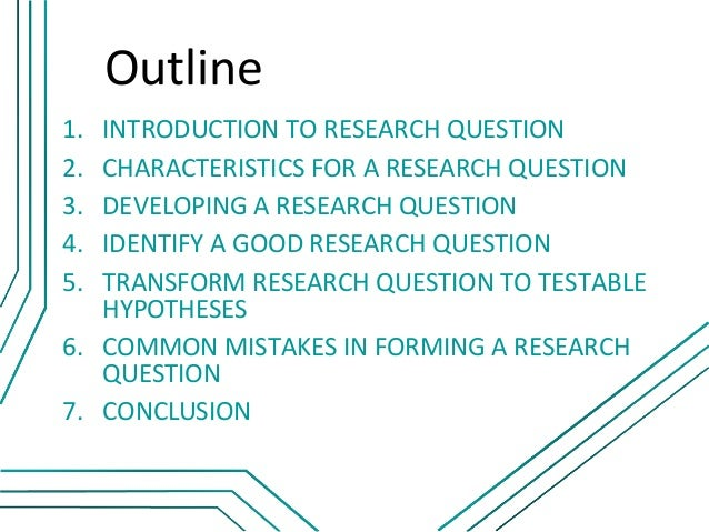 problem (how to form good research question)