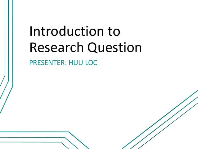 how to find a good research question