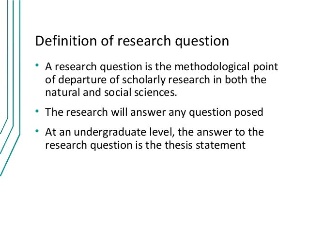 Problem How To Form Good Research Question
