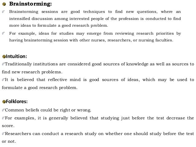 examples of research problems in nursing