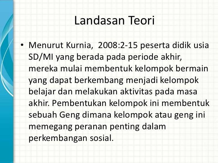 Landasan Teori• Menurut Sudirman ( dalam Djamarah, 2006:  178) tujuan pengelolaan kelas adalah  menyediakan fasilitas bagi...