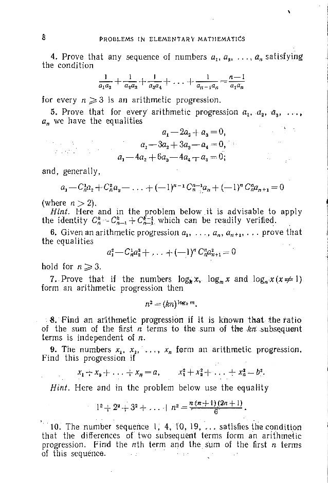 PROBLEMS. ALGEBRA 24. Find all real solutions of the system of equations xS+ys= I, l x2y +2Xy2 +y3= 2. J 25. Solve the sys...