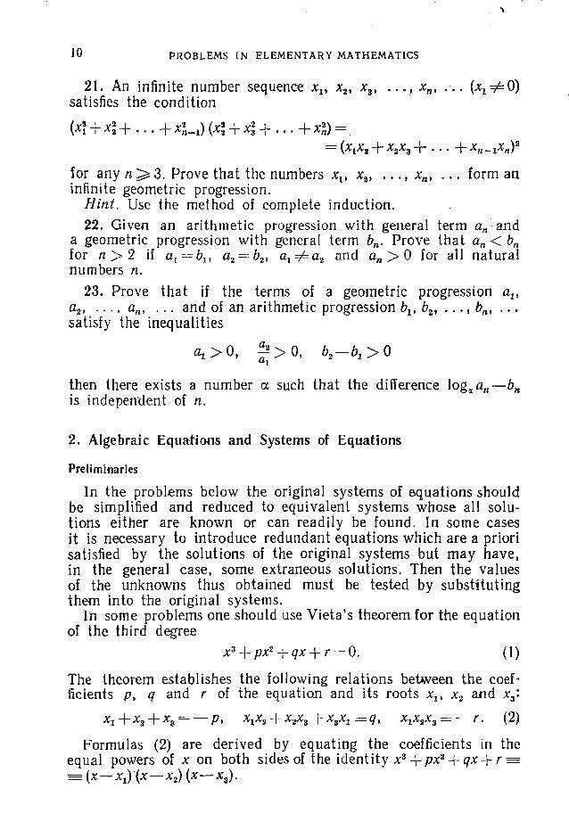 PROBLEMS, .A1..GEBRA : 43. For what real x and y does the equality 5x2+ 5y2+8xy+ 2y-2x +2 = 0 13 hold? 44. Find all real v...