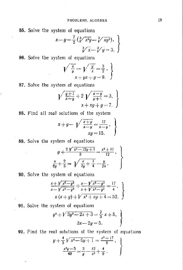 100. Find all the values of a for which the system x 2 +y2 +2x ~ I, } x-y+a=O has a unique solution. Find the correspondin...