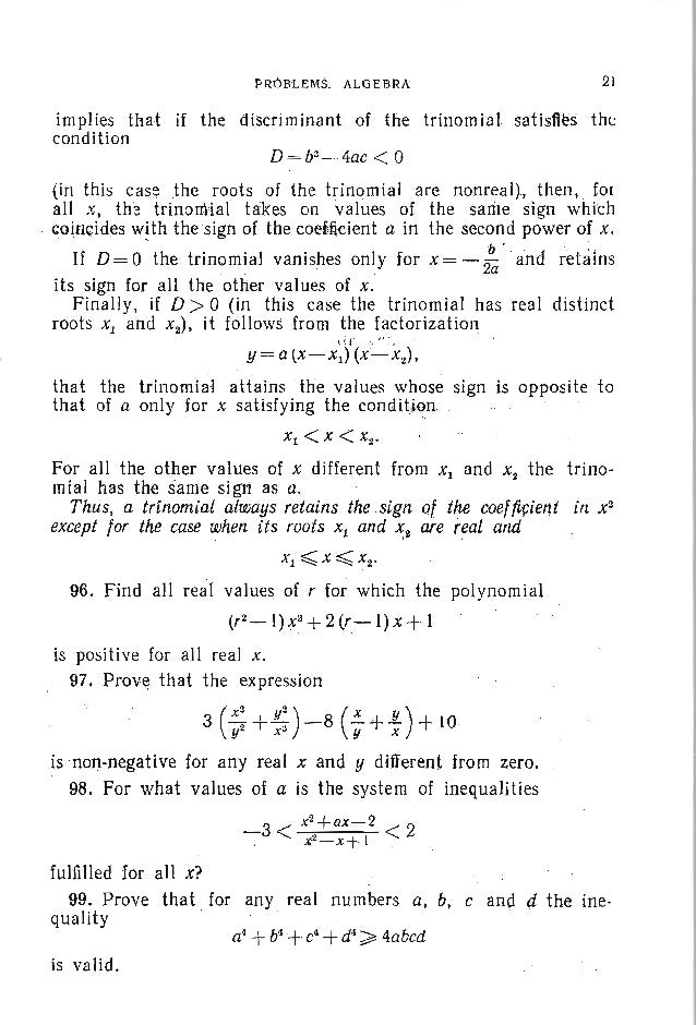 24 PROBLEMS IN ELEMENTARY MATHEMATICS 119;, Prove that for all positive x and yal1d positive integers m and n (n ~ m) we h...