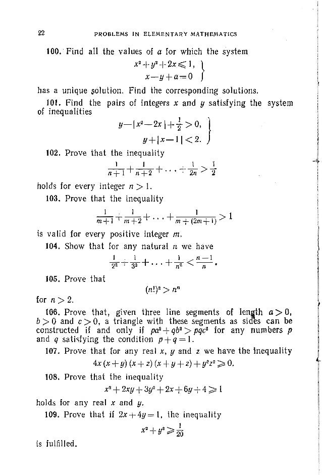 P~OBLEMS . ALGEBf<A 25 The formula is proved by taking the logarithms to the 'base b of the both sides of identity (1). 'I...