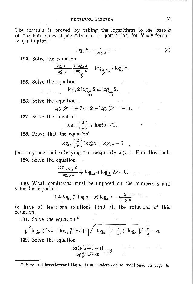 28 PROBLEMS .IN : E,L'E M E N -TA R Y M A T H E M A T I C~ 153. Find the positive roots of the system of equations xY=yX, ...