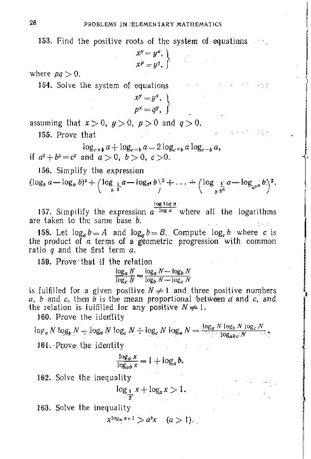 """PROBLEMS. ALGEBRA 31 178. Let PI' P2' ... , Pn be different prime numbers and q=PIP2"""" .p.; Determine the number of the div..."""