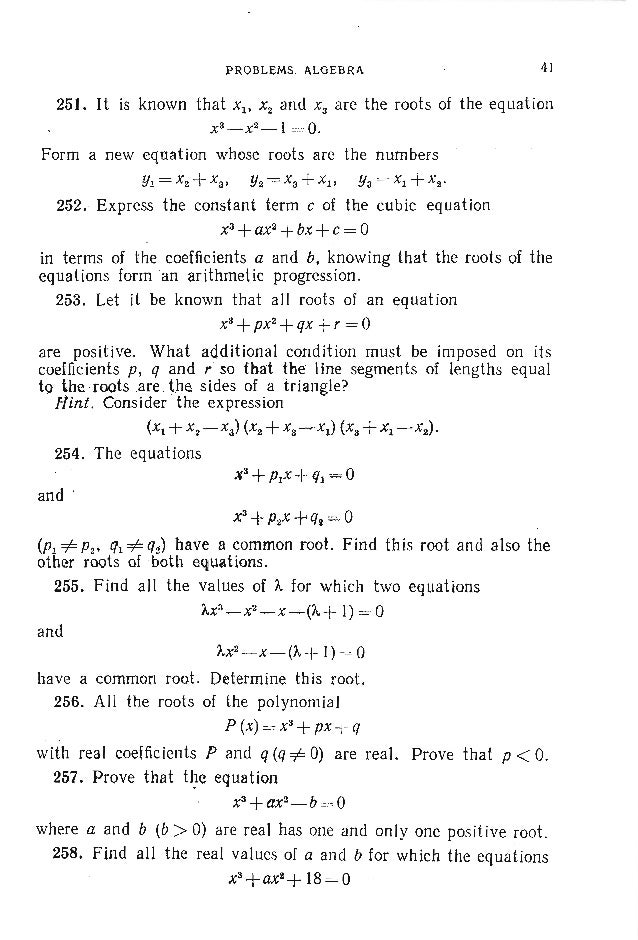 44 PROBLI!MS IN ELEMENTARY MATHEMATICS A similar technique yields the greatest value of a trinomial y =ax2+bx +c for a <O....