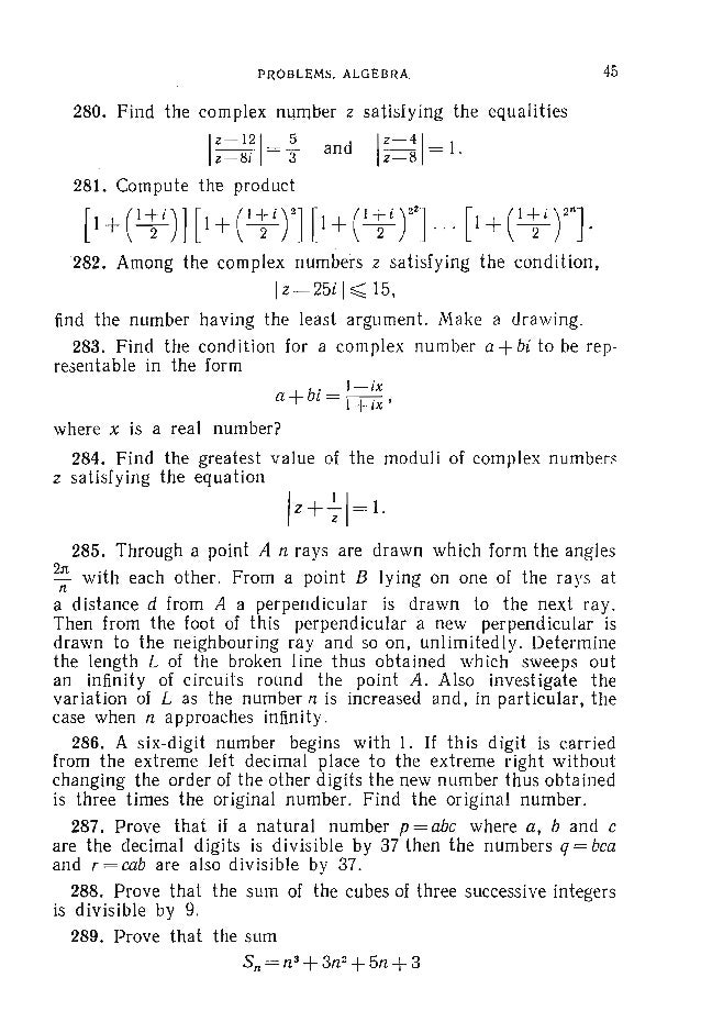 48 PROBLEMS IN EL EMENTARY MATHEMATICS 295. The vertex angle of a triangle with lateral sides of lengths a and b (a < b) i...