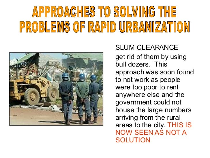 examining problems of urbanization Evidently, this is one of the major challenges china will have to face in the next two decadesin examining this momentous transformation,.