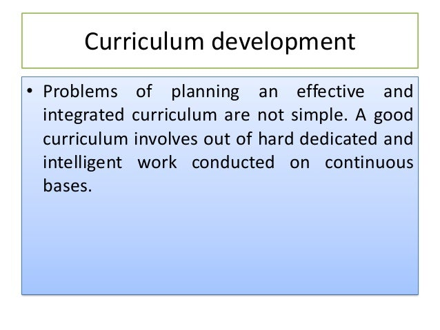 critical factors of curriculum development Curriculum development critical success factors for elearning implementation  timothy brook hall ulim-emrc, university of limerick, ireland abstract.