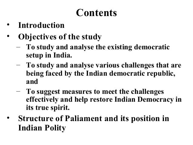essay on challenges faced by indian democracy Emerging challenges what's in store for the new global powers china, india and brazil are taking the global economy by storm, becoming more politically confident on their way but even as they form a front against the west, they will have to tackle slower growth and major domestic problems that their.