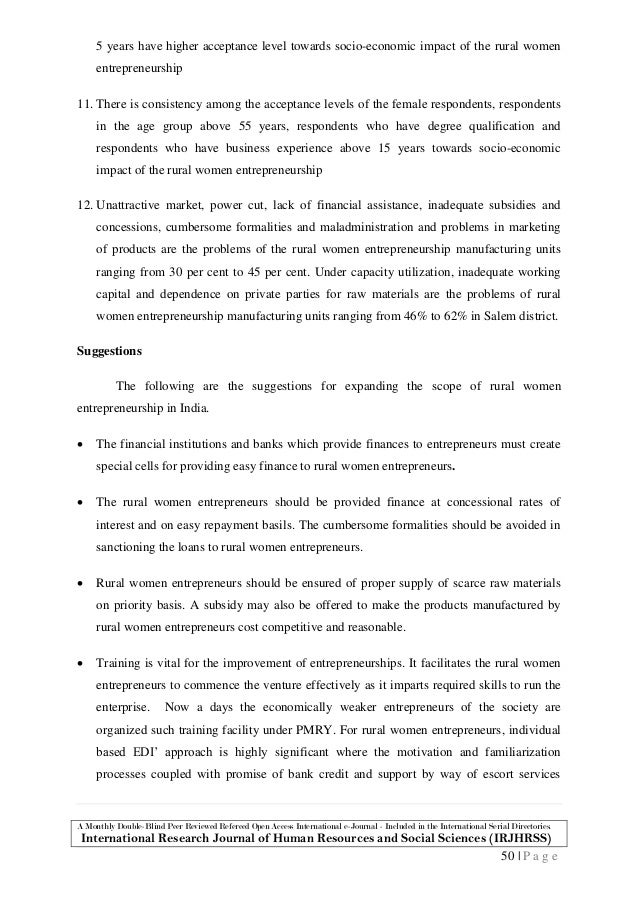 problems faced by rural and women entrepreneurs in india Problems and constraints faced by rural women for entrepreneurship  development in amritsar district of punjab, india internat j appl home sci, 4 (1  & 2).