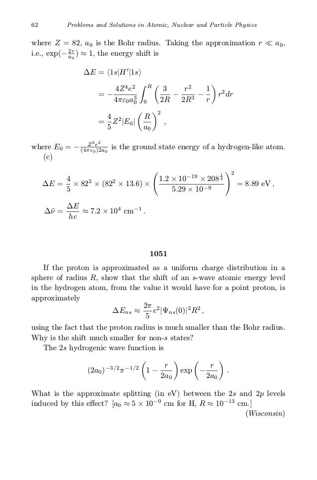 Problems And Solutions On Atomic Nuclear And Particle Physics Kuo