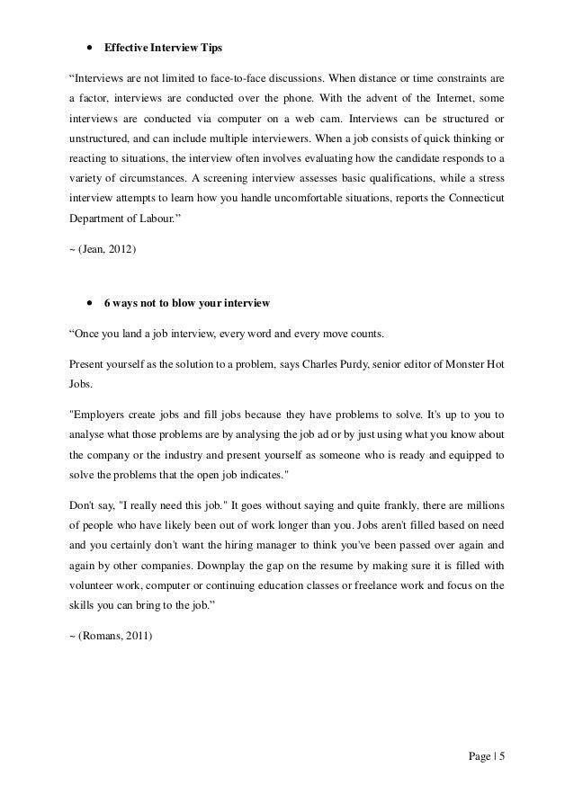 (Heathfield); 5. Page | 5  Effective Interview Tips U201c ...