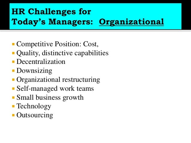 Problems faced by hr managers in india