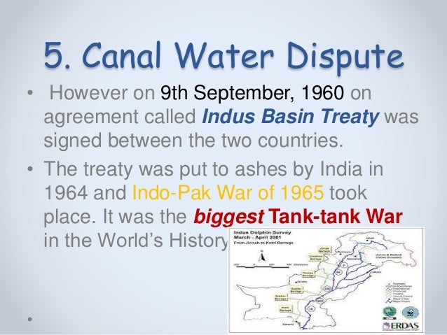 indo pakistan cooperation provisions of indus waters treaty Leveraging indus water treaty (iwt): a realistic appraisal indus water treaty (iwt) has been under much debate and is being touted as an ultimate leverage to choke pakistan, setting the stage for a call for use of water as a weapon.
