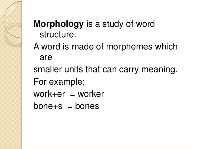 Problems in learning morphological aspects of english