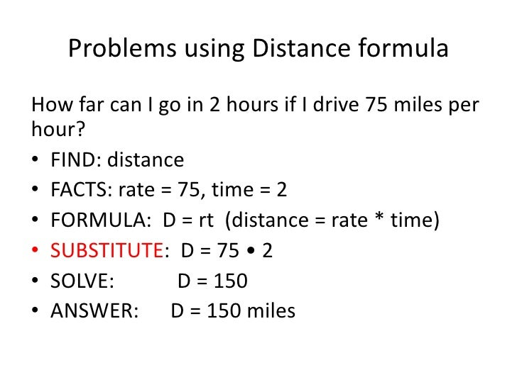 how to solve time and distance problems