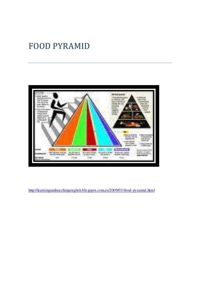 FOOD PYRAMID http://learningandteachingenglish.blogspot.com.es/2009/03/food-pyramid.html