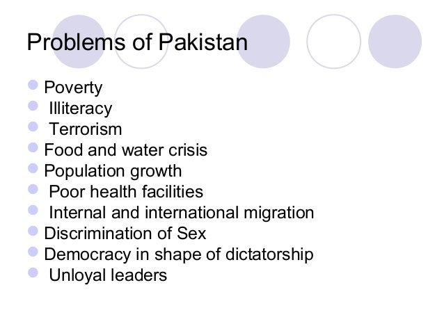 essay on burning issues of pakistan