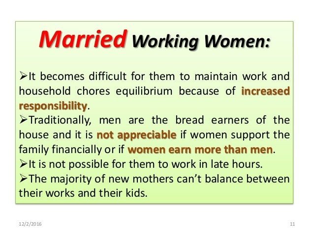 Problems Faced by Working Women