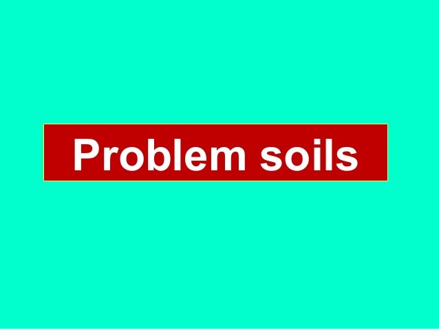 Problem soils