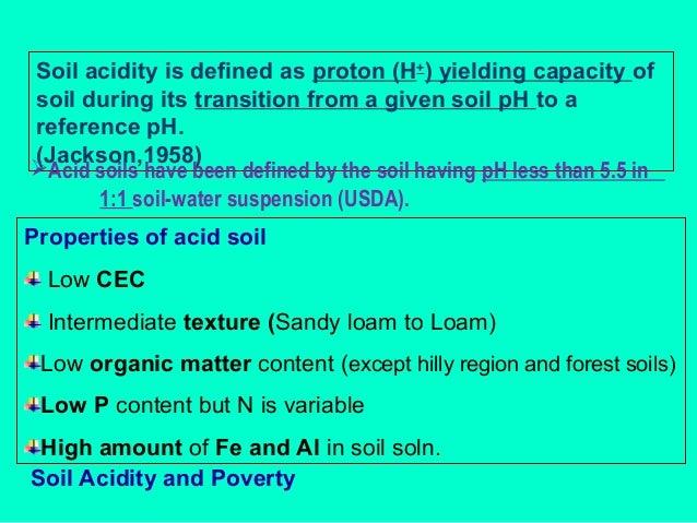 Problem soils and soil acidity p k mani for Soil explanation