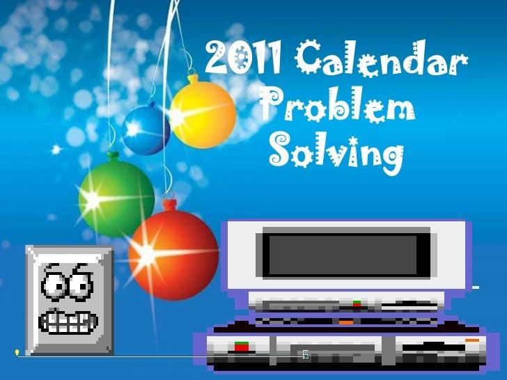2011 Calendar  Problem   Solving