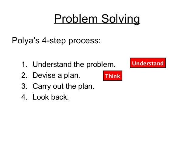 polyas four step method for problem solving